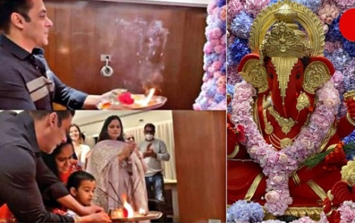 Here's how Salman, family marked the beginning of Ganesh Chaturthi