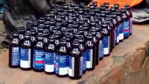 4 drug peddlers held with huge wine and phensidyl in sylhet