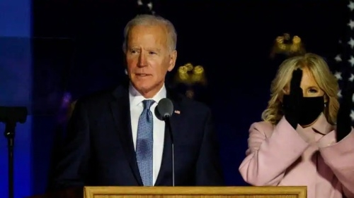 Biden says he's on track to 'win this election'