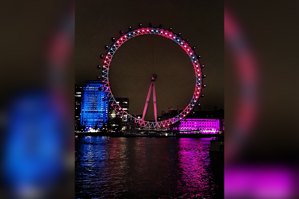 'London Eye' turns red and green for 50th anniversary of independent Bangladesh