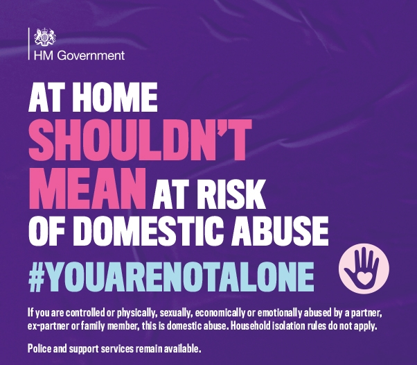 Help is still available for victims of domestic abuse
