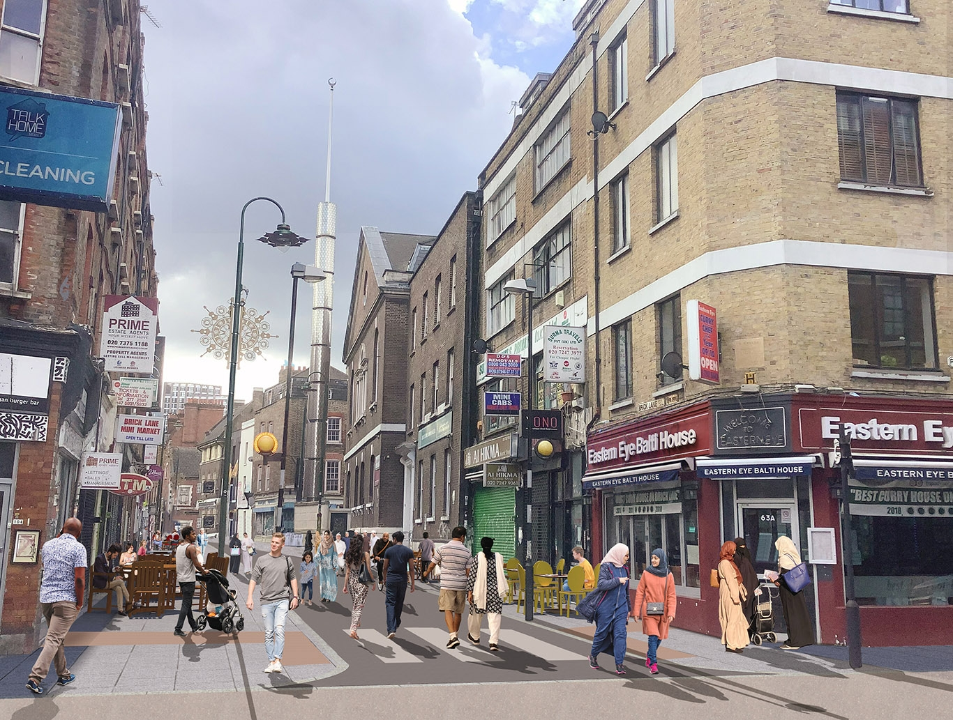 Proposals to make parts of Brick Lane traffic-free at evenings and weekends