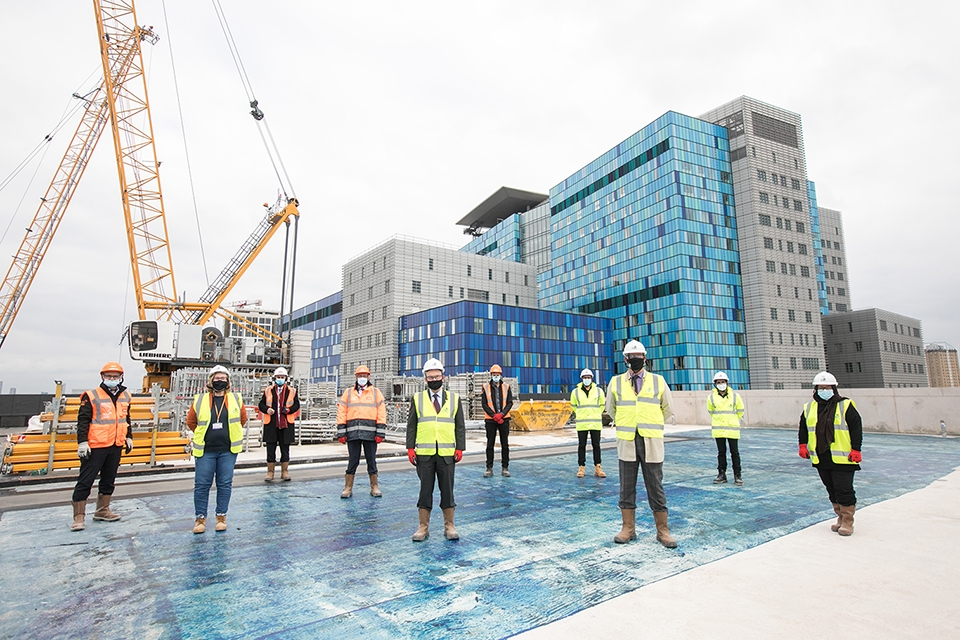 Tower Hamlets Council's New Town Hall reaches its highest point