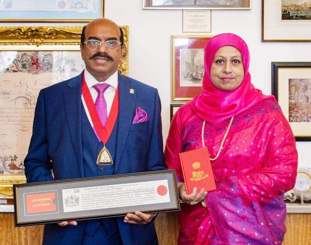 Parvez Ahmed awarded with Freedom of the City of London honour